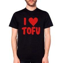 Triditya ht0280# я люблю тофу футболка мужская майка черная
