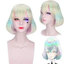 Anime Land Of The Lustrous Cosplay Wigs Diamond Cosplay Wig Synthetic Wig Hair Halloween Party Houseki No Kuni Dia Women Wig цена 2017
