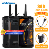 DOOGEE S80 IP68/IP69K Walkie Talkie 10080mAh Mobile Phone Wireless Charge NFC Octa Core 6GB 64GB 12V2A 5.99 FHD 16MP Full Netcom