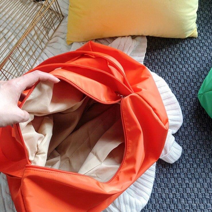 Image 5 - Ins 조수 숄더 가방 여성 새로운 유럽과 미국의 패션 솔리드 컬러 메신저 가방 대용량 간단한 휴대용 맞추기-에서헬스가방부터 스포츠 & 엔터테인먼트 의