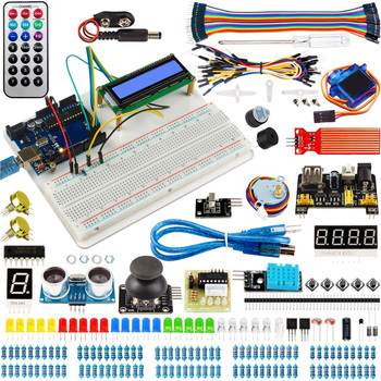 купить Electronic Element Kit Upgraded Version Starter RFID Learn Suite Kit With Divider Circuit BreadBorad Project For Arduino UNO R3 в интернет-магазине