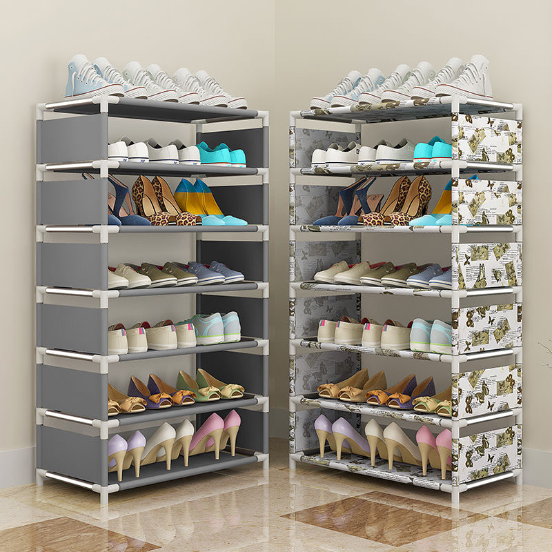 Shoe Rack Multilayer Simple Home Economical Shoe Organizer Cabinet Assembly Bedroom Small Shoe Rack Storage Cabinet Store Shoes