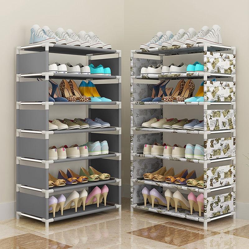 Многоуровневый простой домашний экономичный органайзер для обуви, шкафчик для хранения обуви в спальне, небольшой стеллаж для хранения обу...