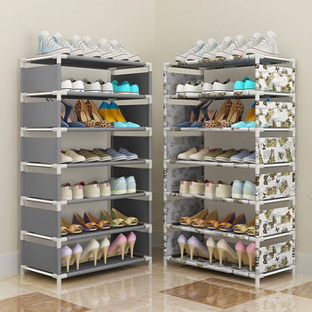Shoe Rack Multilayer Simple Home Economical Shoe Organizer Cabinet Assembly Bedroom Small Shoe Rack Storage Cabinet Store Shoes stainless steel shoe rack oxford cloth simple shoe rack dormitory multilayer shoe storage rack stackable storage rack