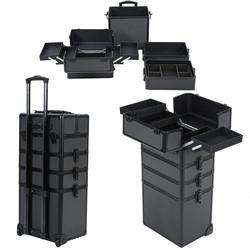 Las mujeres Multi-capa de gran capacidad, caso cosmético, uñas tatuaje equipaje rodante belleza bolso Multi-función Trolley maquillaje maleta