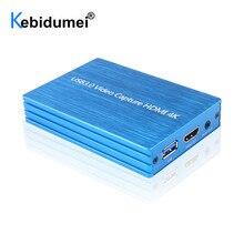 4K USB 3,0 видеокарта захвата ключ HDMI-совместимый 1080P 60fps видеорегистратор захват для захвата груди игры захват в реальном времени