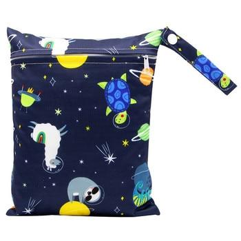 20*25cm Mini Diaper Wet Bag Single Pocket Zipper Baby Bags For Mom Maternity Travel Stroller Bag PUL Nappy Diaper Bag Wetbag - AS-MB-14