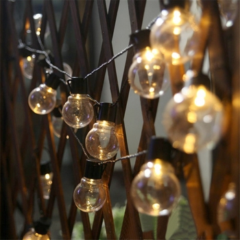 10M 5M Wedding String Fairy Christmas Decorations for Home Outdoor Light Big Ball Globe String Lights Party Garden Garland 5m 20led 10m 35led big ball string light indoor outdoor decorative fairy lighting for christmas trees patio party