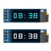 """0,91 дюймов O светодиодный модуль 0,9"""" Белый/Синий O светодиодный 128X32 • Максимальное количество светодиодный ЖК-дисплей светодиодный Дисплей модуль 0,91"""" IIC связи для arduino"""
