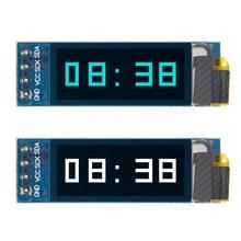 Módulo OLED de 0,91 pulgadas, pantalla LCD OLED de 0,91x32, Módulo De Pantalla LED LCD de 0,91 pulgadas, comunicación IIC para arduino, Blanco/azul