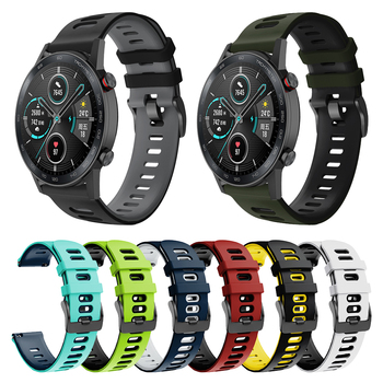 Correa Silicone Band For HUAWEI HONOR Magic Watch 2 46mm 42mm Strap Replace Accessories MagicWatch Watchband Bracelet ремешок