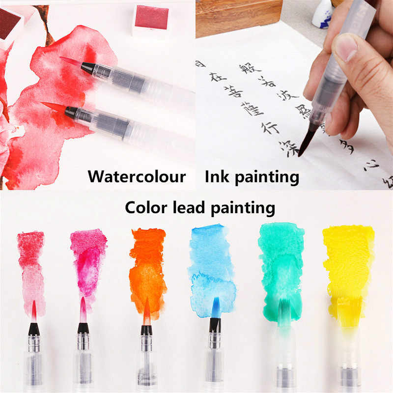 1PC แบบพกพา Art Marker สีน้ำแปรงดินสอนุ่มแปรงสีน้ำปากกาสำหรับเริ่มต้น Painting Art Supplies