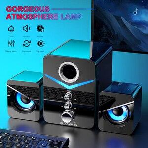 3 шт. объемного бас стерео Портативный компьютер Динамик мультимедиа Динамик s с сабвуфером для настольных ПК компьютер
