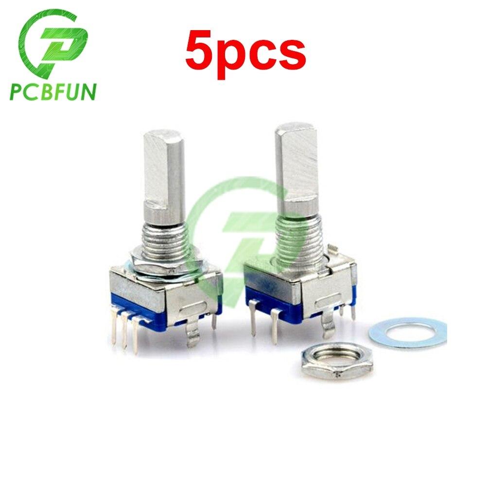 5 pièces prune poignée 20mm codeur rotatif commutateur de codage EC11 potentiomètre numérique avec interrupteur 5 broches durée de vie 30000 fois