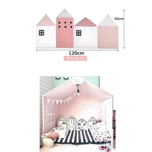 4pcs Baby  Bed Bumper Cartoon House Shape Ruffle Newborn Infant Protection For Crib Cute Soft Bag Anti-collision Toy