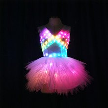 DMX512 Programmable stage dance led costumes RGB colorful ra