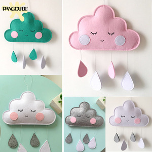 Baby Bedroom Decor Hanging Toys Clouds Newborn Hanging Ornaments Baby Decoration Room Kids Room Decoration Water Droplets