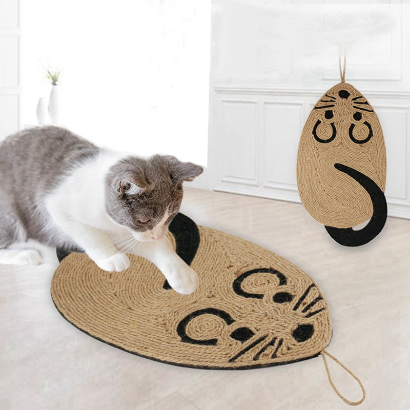 Cute Mouse Shape <font><b>Cat</b></font> Scratcher Board Scratch Post Mat Toy For <font><b>Tower</b></font> Climbing <font><b>Tree</b></font> Pad <font><b>Pet</b></font> Cooling Mat Grinding Nails Toy 1 image