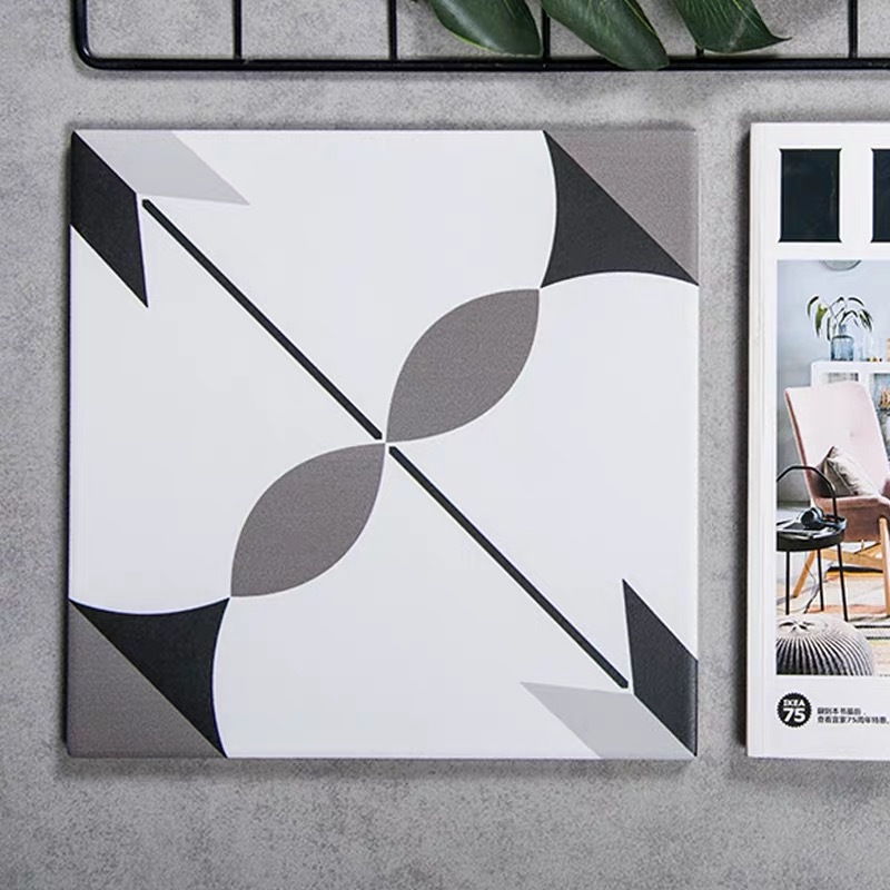 Полностью Керамическая маленькая плитка в европейском стиле черно-белая серая плитка кухонная настенная плитка для ванной комнаты