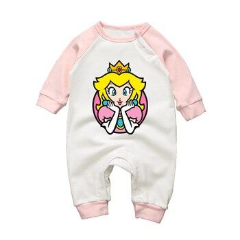 Barboteuse Bébé Fille Coton Super Mario Princesse Peach
