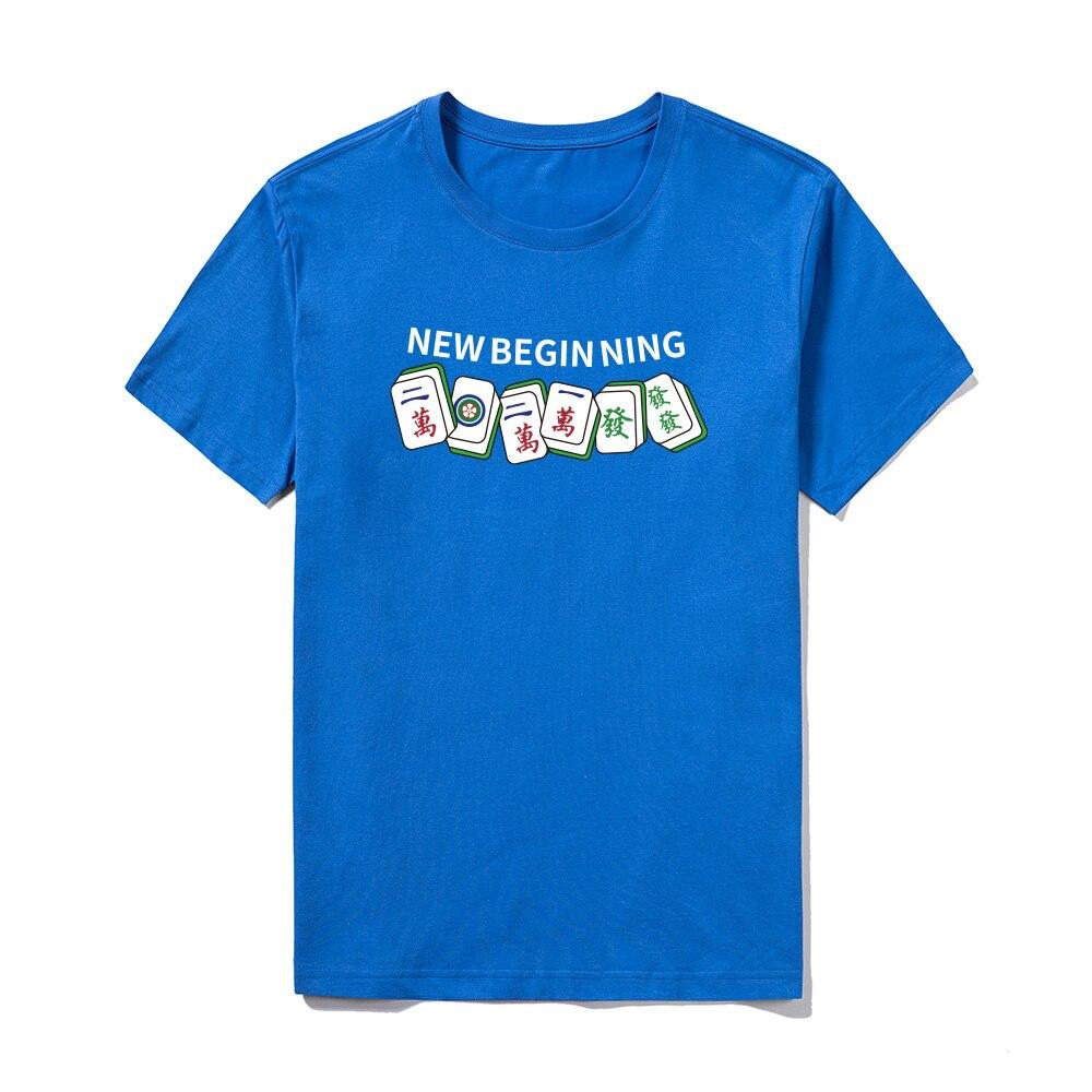 Новинка лета 2021, забавная и уникальная мужская футболка с принтом Маджонга, Повседневная дышащая облегающая футболка с короткими рукавами