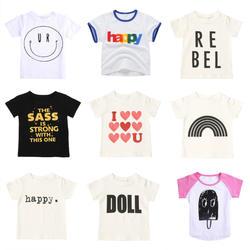 Babyinstar/детская футболка хлопковые топы для девочек, футболка для маленьких мальчиков с принтом звездного неба рубашка на День Благодарения