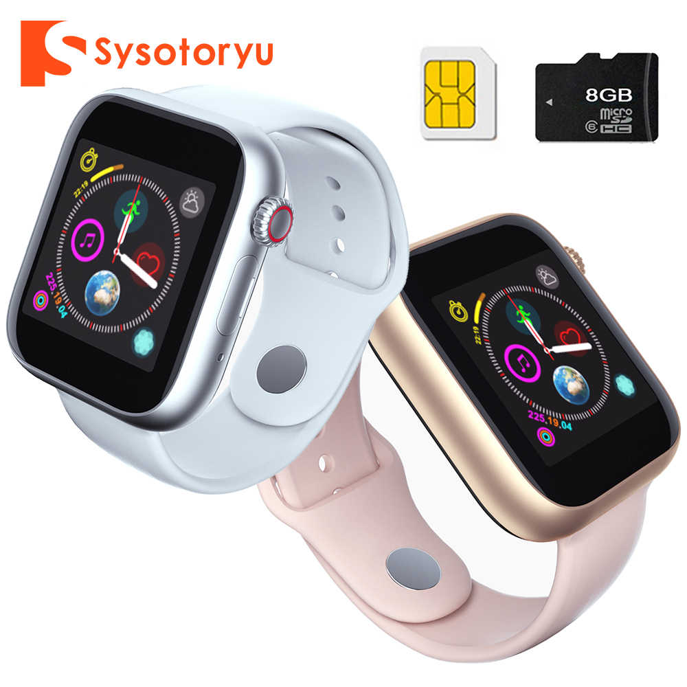 SYSOTORYU montre intelligente Support carte SIM TF carte Smartwatch caméra Bluetooth horloge appel Message pour Apple Android montre hommes femmes