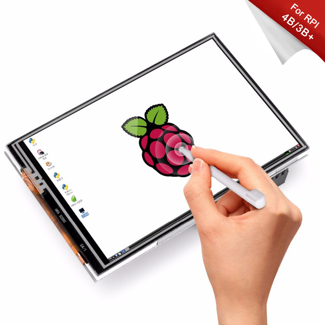 Ahududu Pi 4 Model B/3B +/3B 3.5 inç dokunmatik ekran TFT LCD için tasarlanmış, 125MHz yüksek hızlı SPIi, 480x320PX, XPT204