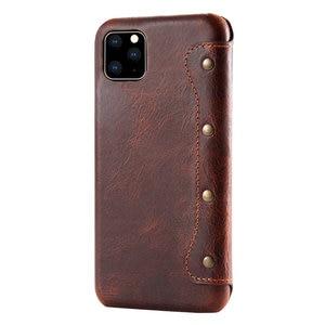 Image 3 - 새로운 아이폰 12 프로 맥스 2020 에 대한 진짜 가죽 지갑 아이폰 11 케이스에 대한 Coque 아이폰 11Pro 케이스 플립 커버 iPhone12 미니 XS Funda