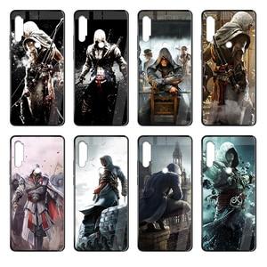 2019 Skull Assassins Creed Game trend cover pokrowiec na komórkę czarny futerał na telefon do Xiaomi Redmi Note S2 3 4 5 6 7 8 K20 A S X Plus Pro