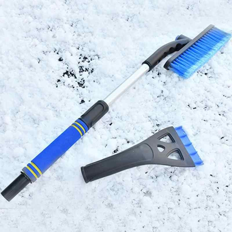 Vodool Afneembare Telescopische Handvat Auto Sneeuw Ijskrabber Sneeuw Borstel Schop Winter Auto Window Sneeuw Removal Tool Reinigingsborstel