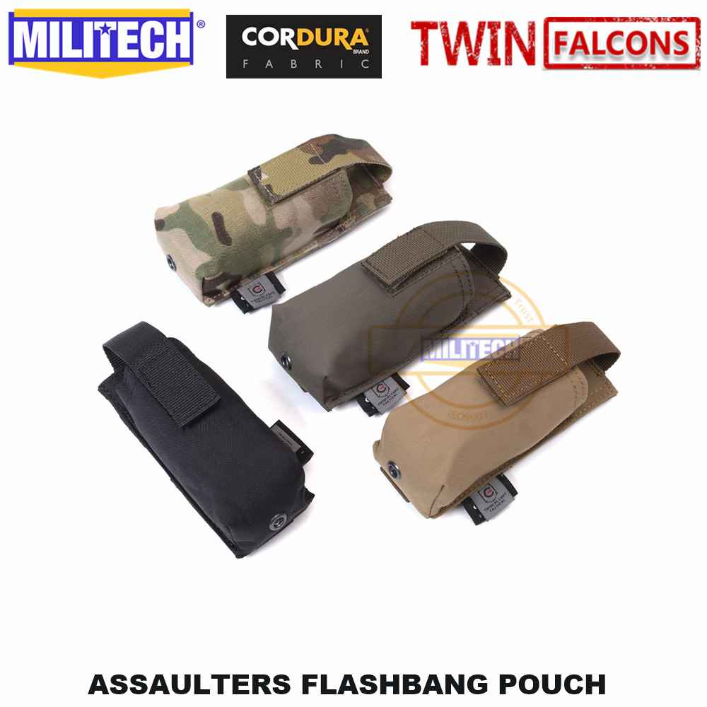 MILITECH Assaulters Flashbang Pouch Bomb Pouch TWINFALCONS TW Delustered 500D Cordura Made Accessories Bag TYR Smoke Pouch