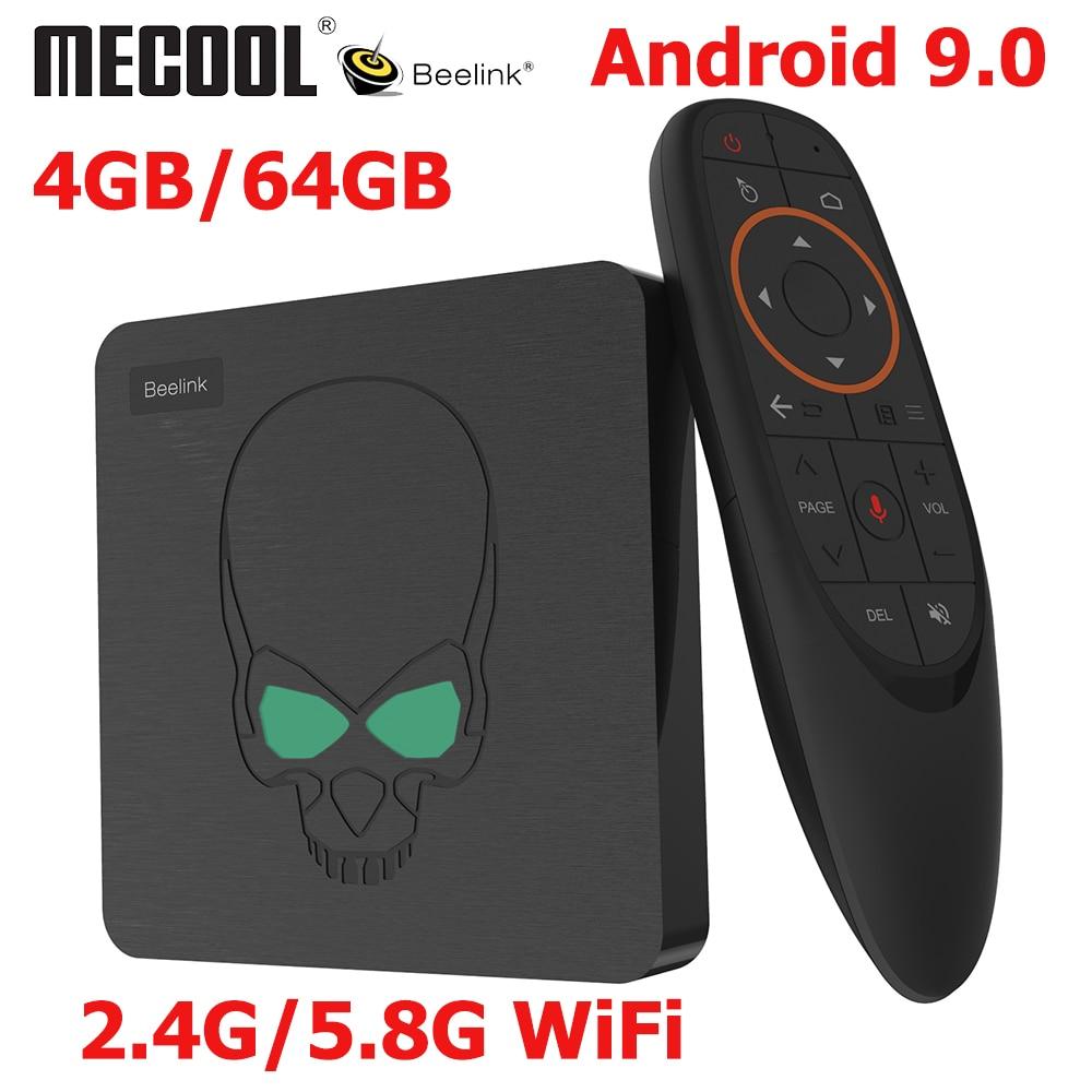 Beelink GT-King Android 9.0 TV BOX Amlogic S922X GT King 4G DDR4 64G EMMC Smart TV Box 2.4G/5G Dual WIFI 1000M LAN 4K Con(China)