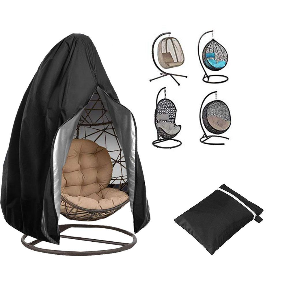 Zipper Hanging Egg Chair Waterproof Patio Chair Cover Heavy Duty Dust Rain Cover For Garden Yard Outdoor Patio Furniture Cover|All-Purpose Covers| |  - title=