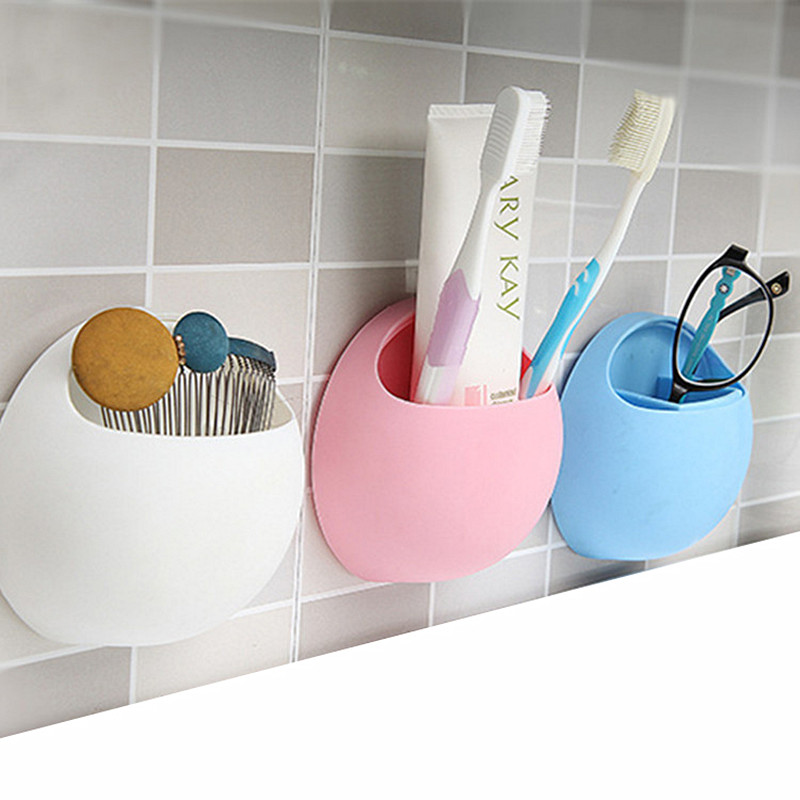 Soap Dish Without Drilling Wall Bathroom Mounted Soap Dish Sponge Dish Bathroom Accessorie Candy Color Soap Dishes Self-Adhesive