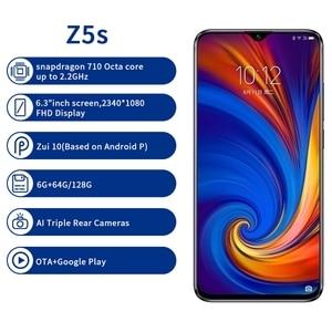 Image 4 - Global Version Phone Lenovo Z5S 4G/6GB 64GB/128G 6.3 Inch 2340*1080 Smartphone Rear 3 Cameras Cellphone Snapdragon 710 Octa Core
