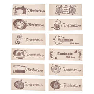 50PCS Handmade Printing Cloth Labels Tags For DIY Crafts Sewing Clothing Bags Decoration Accessories Materials