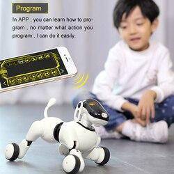 Робот, собака, голосовое управление и приложение, светодиодный робот, AI собака, интерактивные игрушки, танцы, поет, воспроизводит музыку, сен...