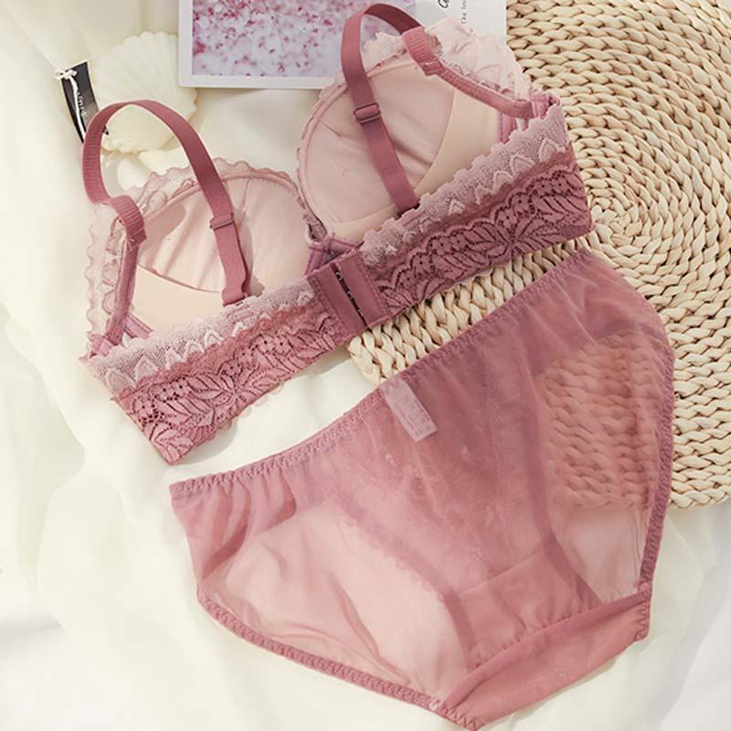 Женский кружевной бюстгальтер с бантиком roseheart розовый и