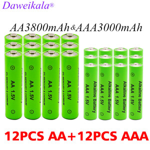 AA + AAA rechargeable AA 1.5V 3800mAh/1.5V AAA 3000mah Alkaline battery flashlight toys watch MP3 player replace Ni-Mh battery