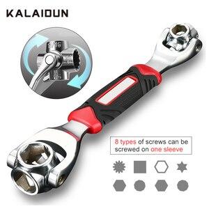 Image 1 - Kalaidun conjunto de chaves de torque, conjunto universal de chaves, multifuncional, chave de catraca, ferramentas manuais 48 em 1, parafusos ranhurados, móveis torx, carro reparo de reparo