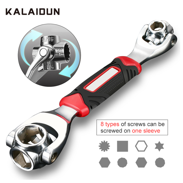 Kalaidun conjunto de chaves de torque, conjunto universal de chaves, multifuncional, chave de catraca, ferramentas manuais 48 em 1, parafusos ranhurados, móveis torx, carro reparo de reparo
