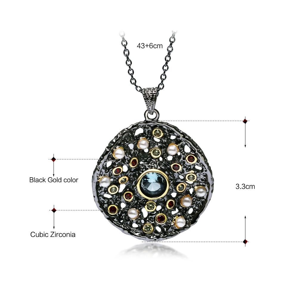 Image 5 - Dreamcarnaval 1989 exagéré femmes gothique ensemble de bijoux boucles doreilles anneau pendentif collier mélange cubique Zircon synthétique perle ERP6532S3Parures de bijoux   -