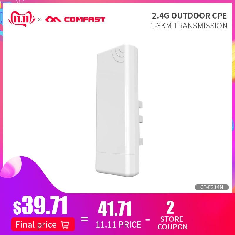 COMFAST CF-E214N Outdoor Wifi CPE Wireless AP Network Bridge 2km Range Wifi Repeater Wifi Signal Amplifier Extender Wifi Router