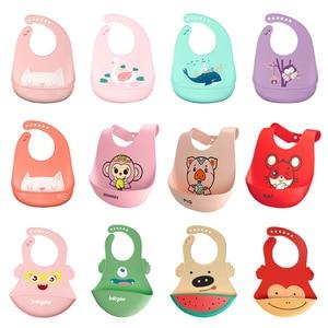 Baby Bibs Waterproof Silicone Feeding Baby Saliva Towel Newborn Cartoon Aprons Baby Bibs Adjustable Different styles of Bibs()