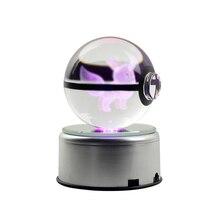 Дропшиппинг 3D фигурки хрустальный шар гравировка Стекло мяч светодиодный Ночные огни на Рождество или день рождения, подарки для детей