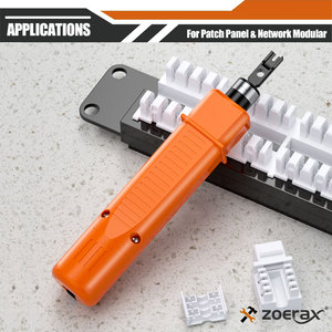 Image 5 - Punch Down Tool, Zoerax 110 Type Network Cable Tool Double Blades Ethernet Impact Terminal Insertion Tools