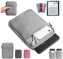"GLIGLE universal 6 ""E-book sleeve bags Funda para Kindle Paperwhite 1 2 3th funda + película de pantalla + lápiz táctil(China)"
