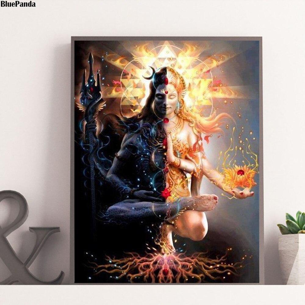 Shiva escuro e luz impressões em tela imagem quadros modulares para sala de estar cartaz na parede decoração da sua casa