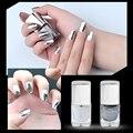 7 мл покрытие серебристой пасты металла Цвет зеркало серебряный лак для ногтей продолжительностью металлик стильные съемный ногти